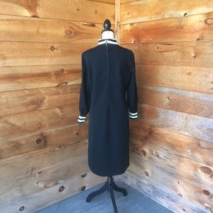 Vintage Dresses - Vintage David Crystal 1960's Black Polyester Dress